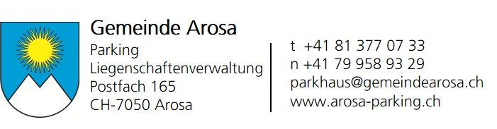 Arosa Parking Ticketshop-Logo